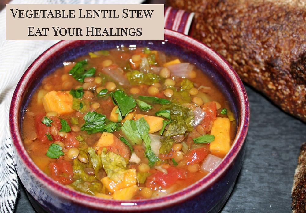 plant-based Vegetable and Lentil stew