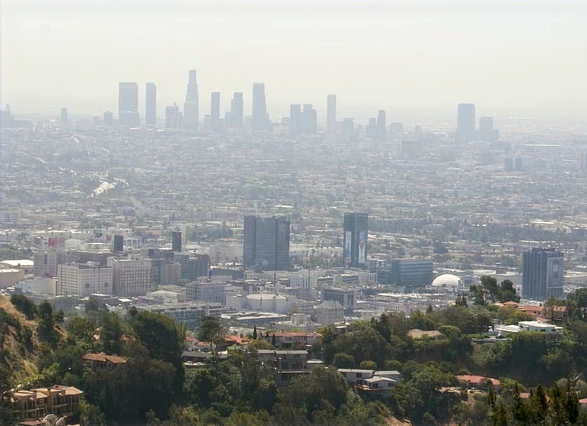 air pollution; smog over Los Angeles