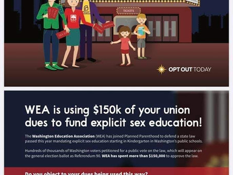 The Washington Education Association is Using $150K of Union Dues to Fight Parents For Your Kids