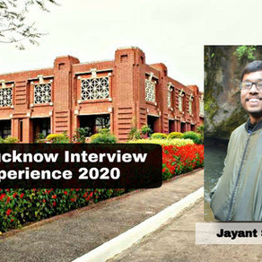IIM Lucknow Interview | Jayant Singhal | Economics Hons.
