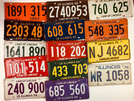 Color History of Illinois Vintage License Plates
