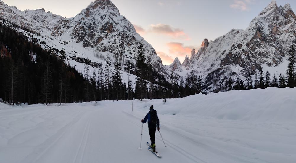 Hochbrunnerschneid Menschenfresserrinne Canalone Omicida Monte Popera Sentinellascharte Skitour
