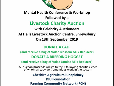Raising Awareness Around Mental Health In The Agricultural Sector 13th September 2019