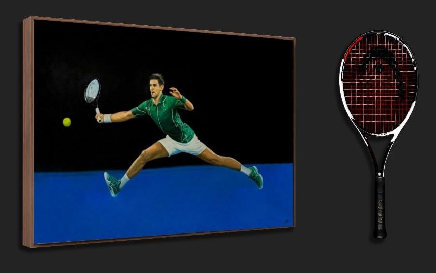 Novak Djokovic signed Head Graphene 360+ Speed Pro at The Berlin Tennis Gallery