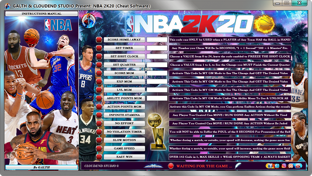 cloudend studio, NBA 2k20, NBA, cheats, trainer, code, mod, modded, tips, software, steam, pc, youtube, google, facebook, cheat engine, cheat table, free, script, tool, gameplay, game, dlc, unlock, 100%, items, rpg, achievements, 作弊, カンニング, カンニング竹山, tricher, tricks, engaños, トリック, 騙します, betrügen, trucchi, complete guide, 騙子, 사기꾼조심, 사기꾼들, 사기꾼, news, ps4, xbox, Arms, Youtube Game, Google Stadia, Epic Games, hack, glitch, news, basket ball, basket, sport, cheat happens, LeBron James, Kevin Durant Dwyane Wade, 09/09/2019