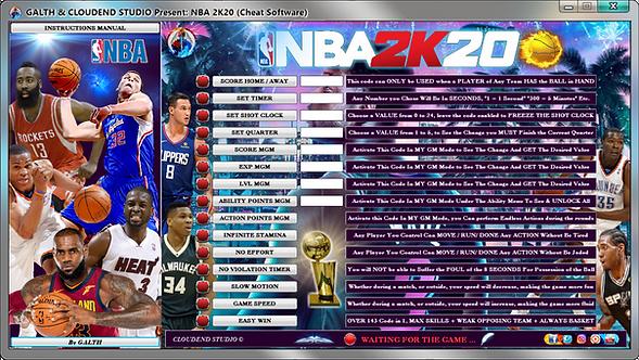 NBA 2K20, NBA, CHEATS, MOD, BASKET, TRAINER, 2K, TIPS, SPORT, LEBRON JAMES, FIFA, TRICK, CODE, CHEAT ENGINE, CHEAT HAPPENS