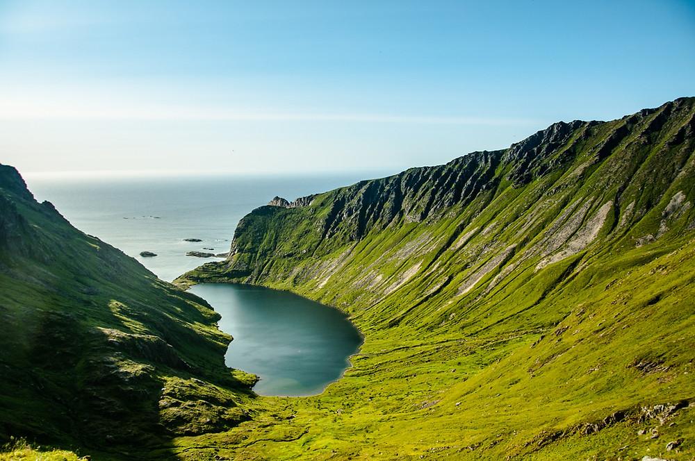 Isole Lofoten la baia di Stokkvika