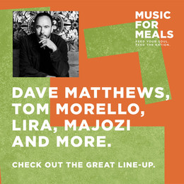 Dave Matthews and Tom Morello to headline virtual charity concert this Friday.