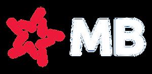 Logo MB Bank PNG trắng đỏ