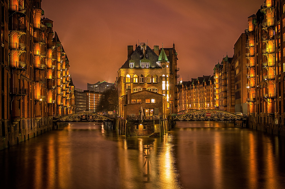 Canals of Hamburg, Germany
