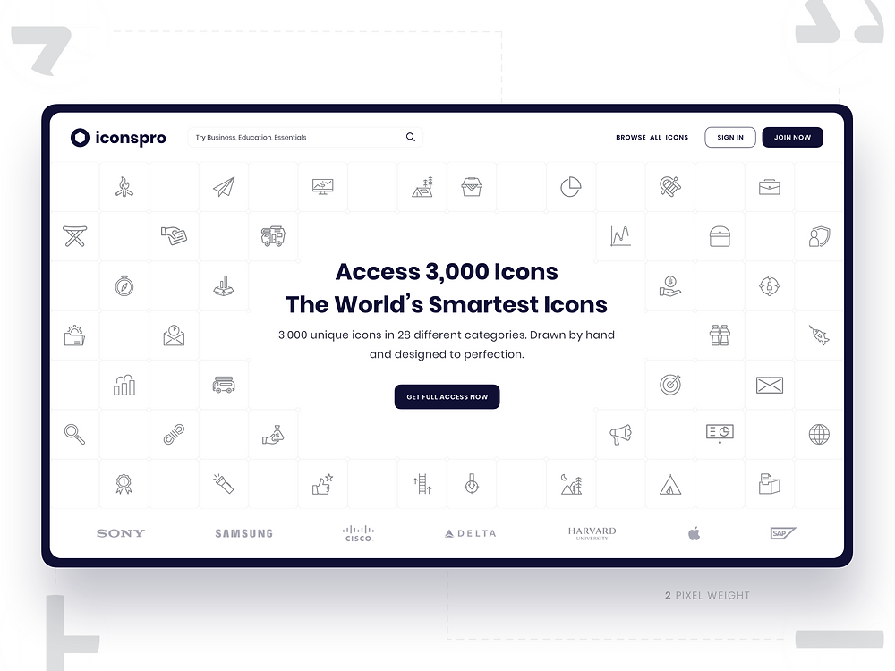 Iconspro - Icon library web design