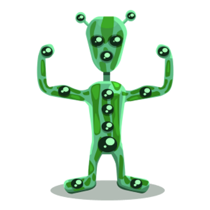 original green alien with transparency.p