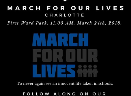 TKT at March for Our Lives Charlotte