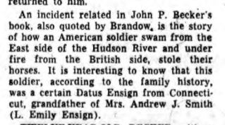 Datus Ensign remembered in the news again in 1966