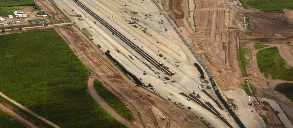 Union Pacific New Rail Yard At Mumford Texas Near Bryan and College Station