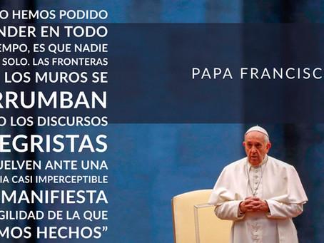 El Papa escribe una reflexión inédita para una Pascua marcada por el coronavirus.
