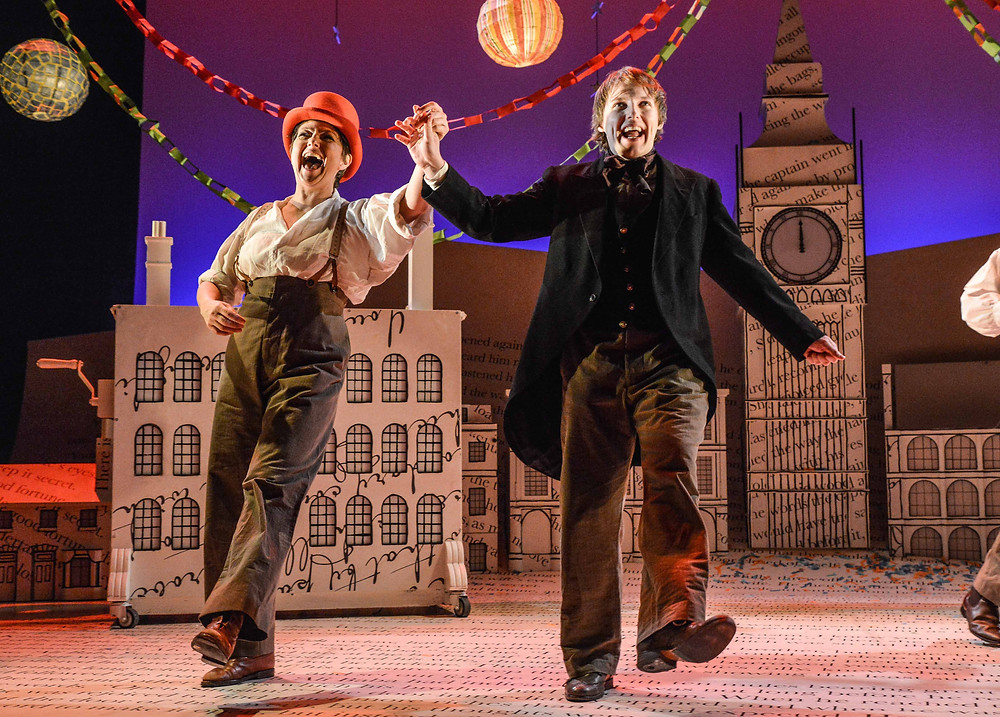 Claire Storey and Max Gallagher in A Christmas Carol. Pictures: Robert Day and Steven Barber