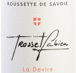 Etiquette de la Roussette de Savoie de Fabien Trosset