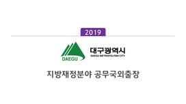 [대구광역시] 지방재정분야 공무국외출장