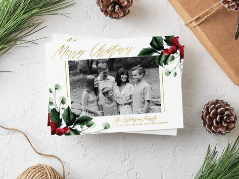 Now Offering Holiday Cards with Petal + Blush Paper Co.