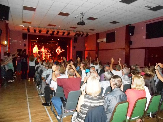 Queen Tribute Band Majesty perform live at the Evron Theatre, Filey.
