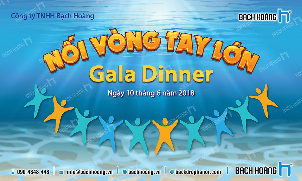 Backdrop Phông Gala Dinner Team Building