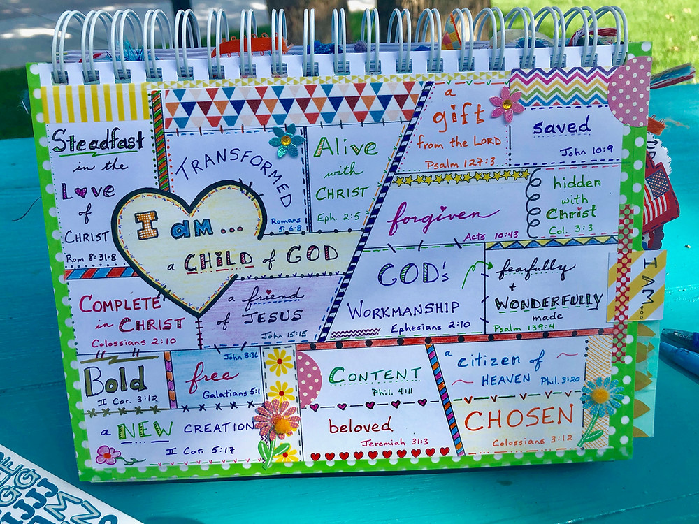 """""""I am"""" page in my Bible Quilt journal"""