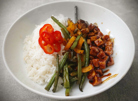 Vegan Sticky Teriyaki Tofu Stir fry