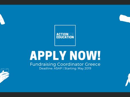 NEW OPENING: Fundraising Coordinator Greece