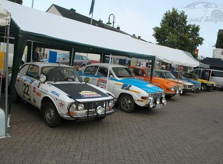 Spabrücken und historische Rallyeautos