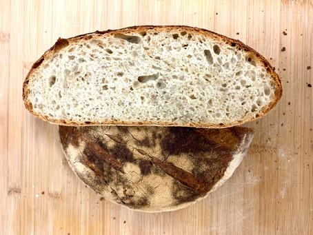 לחם כפרי עם גרעיני חמנייה