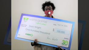 Franklin County woman $100K richer after winning Virginia Lottery's Cash 5 game