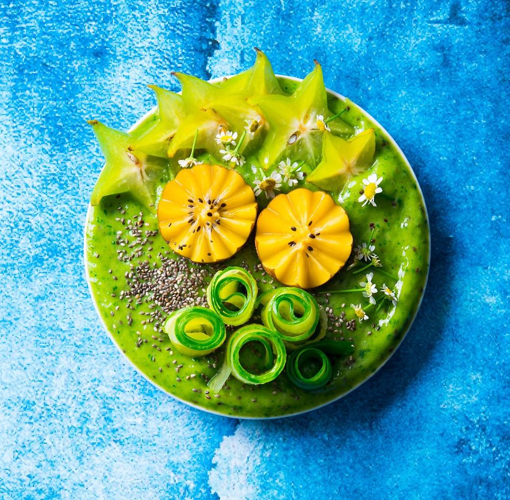 Glotnutis su agurkais, avokadais kiviais, smūtis, Alfo Ivanausko receptai