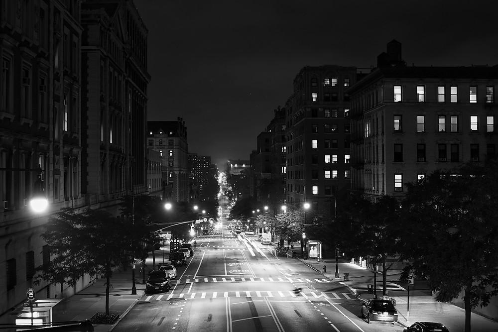 Nighttime street photography