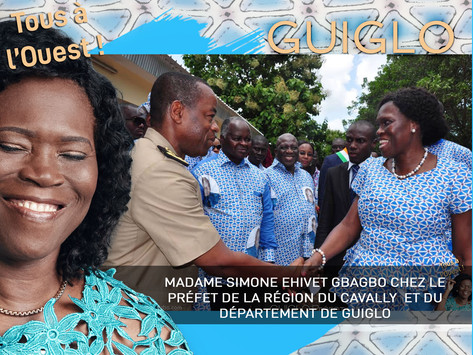 VISITE DE MADAME SIMONE EHIVET GBAGBO AU PRÉFET DE LA RÉGION DU CAVALLY ET DU DÉPARTEMENT DE GUIGLO