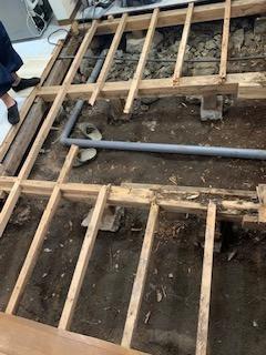 さいたま市南区にて床下地補強工事