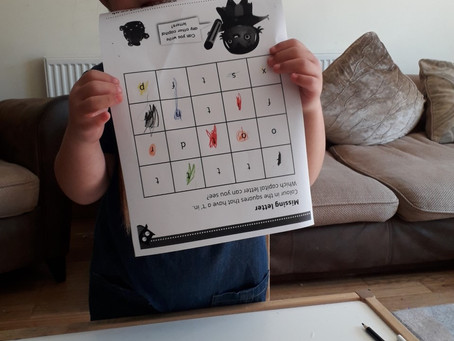 Daria has been learning about letter sounds (RAF)