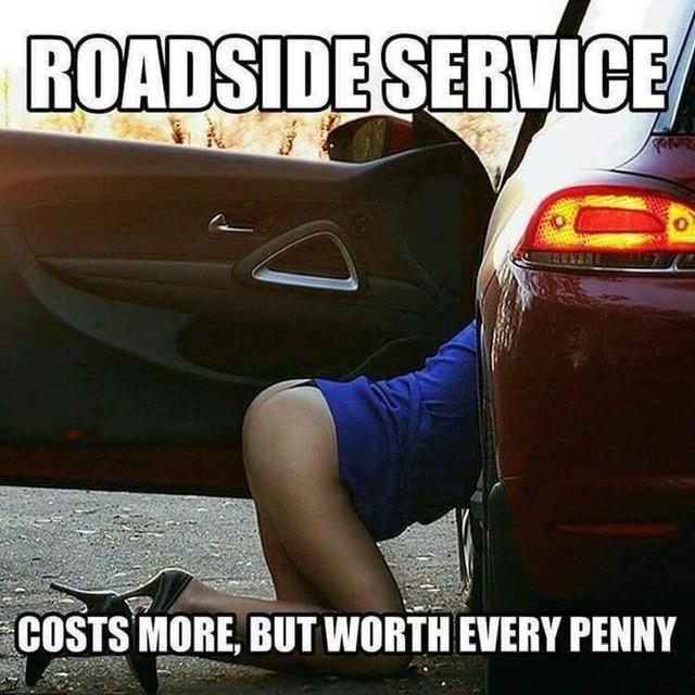 Funny Offensive Roadside Service Meme