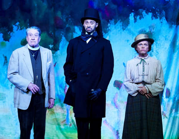 David Cardy, Jack Hardwick and Vicky Entwistlein Octagon Theatre Bolton's production of The Importance of Being Earnest
