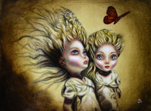 The Offspring and the Butterfly Painting by Tiago Azevedo