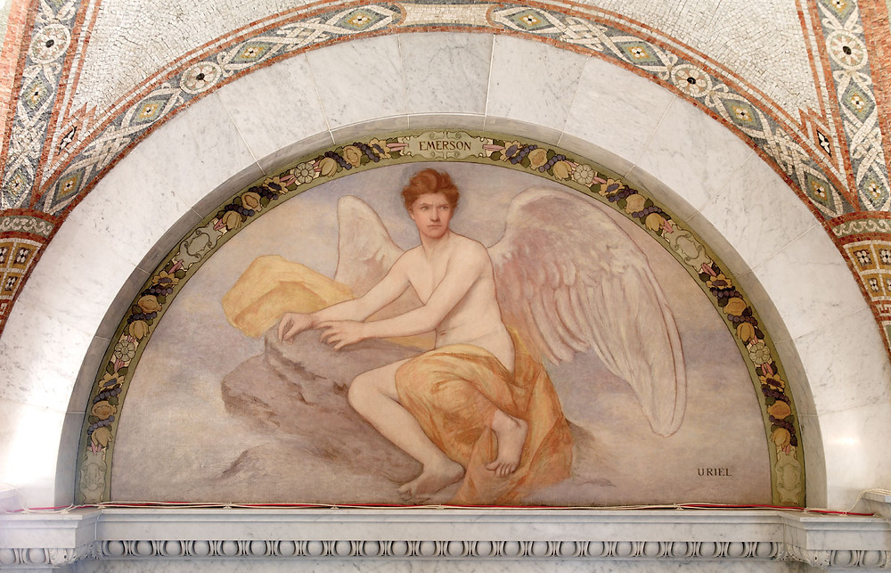 Uriel, mural of the Lyric Poetry series by Henry O. Walker; in the Thomas Jefferson Building, Washington, D.C.