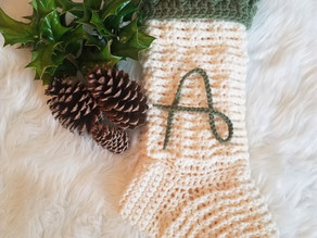 How to Crochet the Rustic Charm Christmas Stocking
