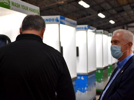 Congressman Bill Johnson Tours The Personal Protected Ohio Facility