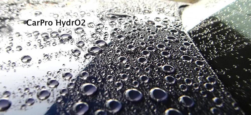 CarPro Hydro water beading on car hood