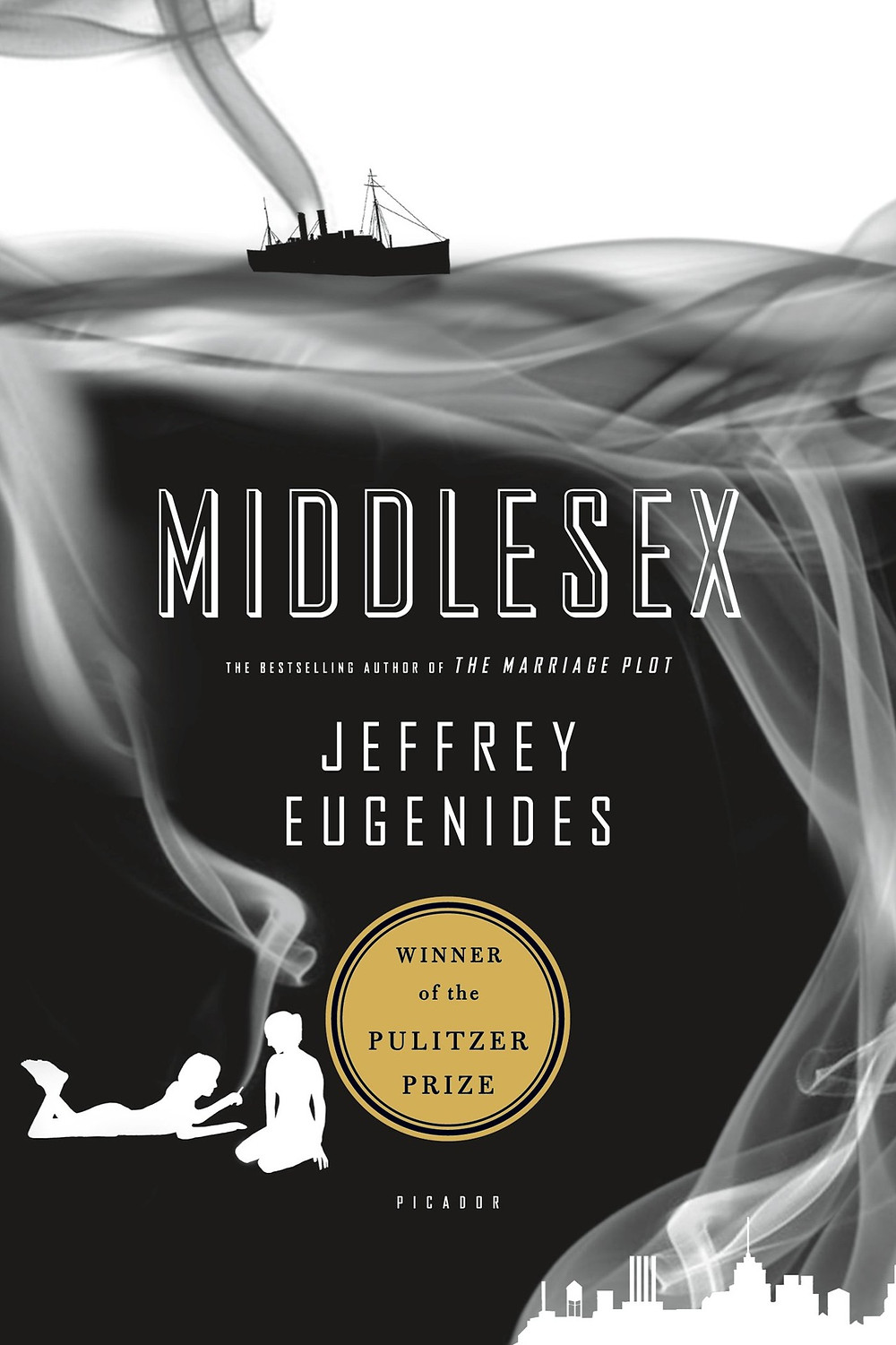 "Middlesex Jeffrey Eugenides (Author) ""I was born twice: first, as a baby girl, on a remarkably smogless Detroit day of January 1960; and then again, as a teenage boy, in an emergency room near Petoskey, Michigan, in August of l974. . . My birth certificate lists my name as Calliope Helen Stephanides. My most recent driver's license...records my first name simply as Cal."" So begins the breathtaking story of Calliope Stephanides and three generations of the Greek-American Stephanides family who travel from a tiny village overlooking Mount Olympus in Asia Minor to Prohibition-era Detroit, witnessing its glory days as the Motor City, and the race riots of l967, before they move out to the tree-lined streets of suburban Grosse Pointe, Michigan. To understand why Calliope is not like other girls, she has to uncover a guilty family secret and the astonishing genetic history that turns Callie into Cal, one of the most audacious and wondrous narrators in contemporary fiction. Lyrical and thrilling, Middlesex is an exhilarating reinvention of the American epic. Middlesex is the winner of the 2003 Pulitzer Prize for Fiction."