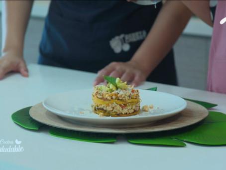 Prepara esta deliciosa Lasagna de plátano maduro