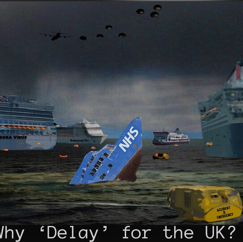 "Cartoon: The logic behind the UK's Corona Virus ""delay"" strategy ."