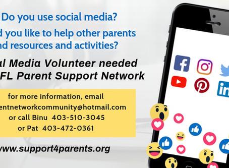 Social Media Volunteer The GFL Parent support network