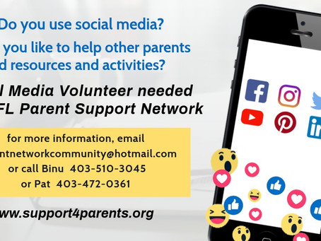 Social Media Volunteer The GFL Parent support network
