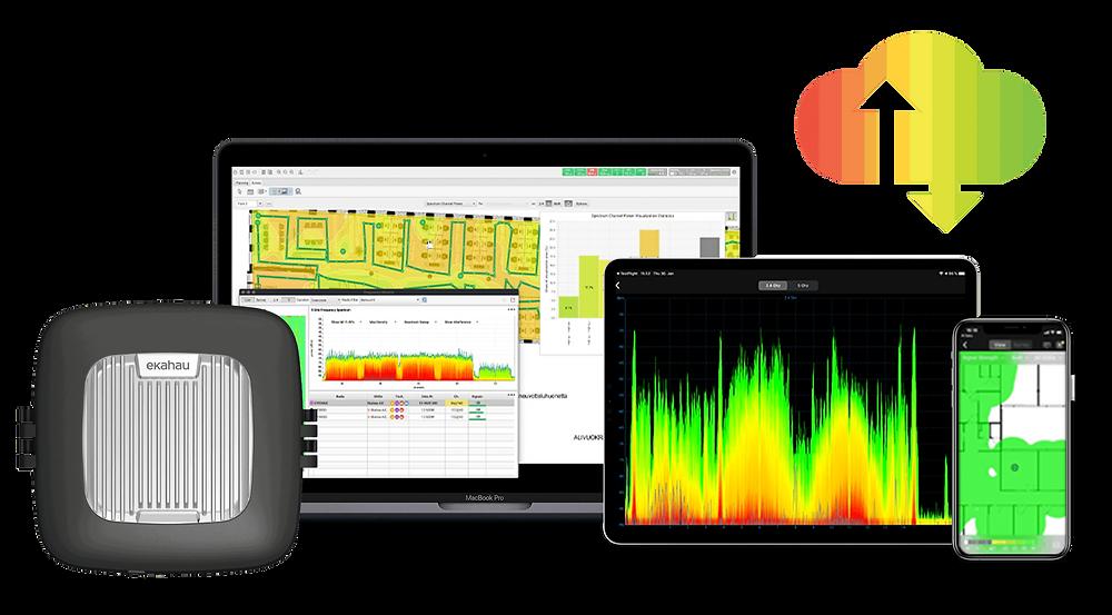 Ekahau Pro og Ekahau Sidekick er markedslendende verkøty til planlegging og dekningsanalyse for trådløse nettverk.